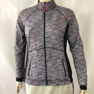 Tangerine Zip Up Jacket Size XL Gray and Pink